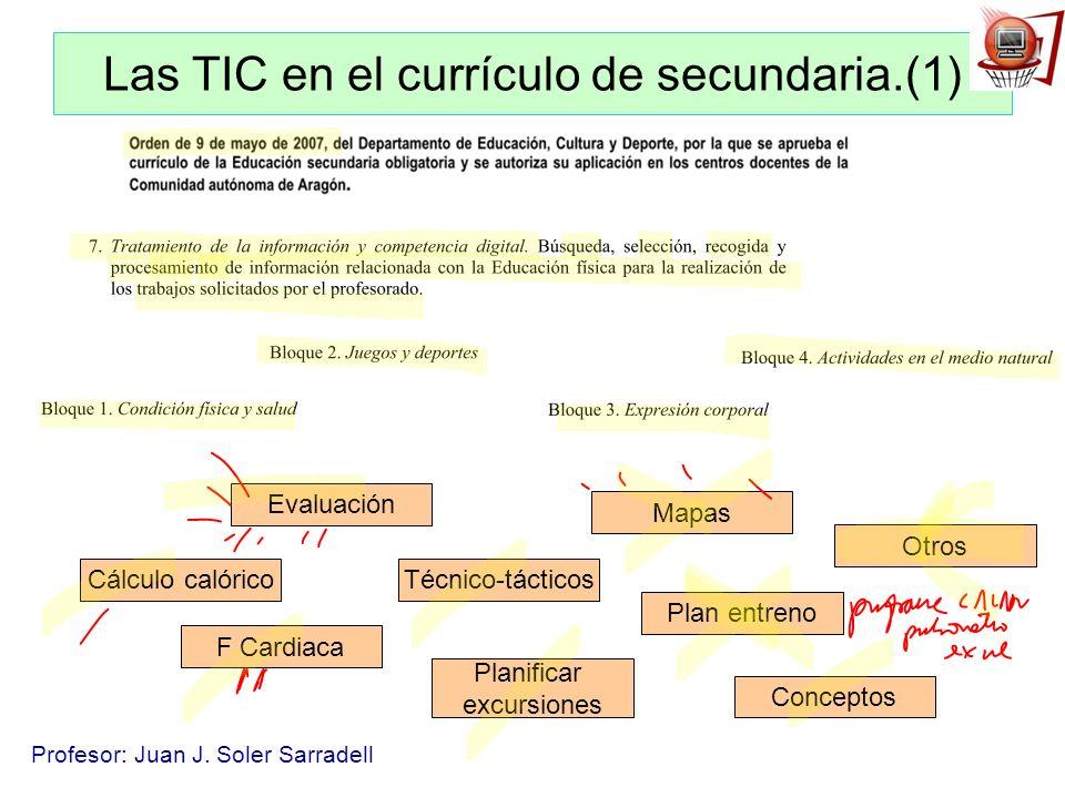 Las TIC en el currículo de secundaria.(1)