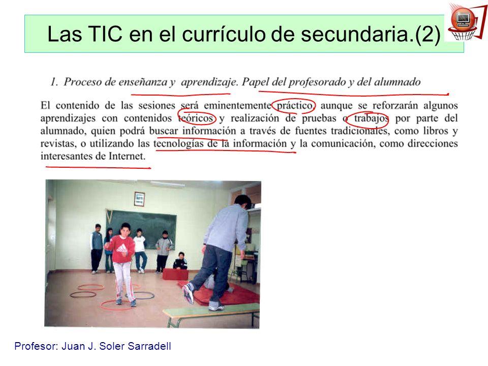 Las TIC en el currículo de secundaria.(2)