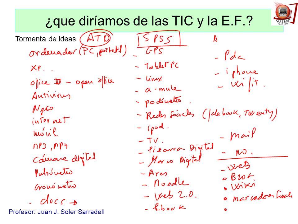 ¿que diríamos de las TIC y la E.F.