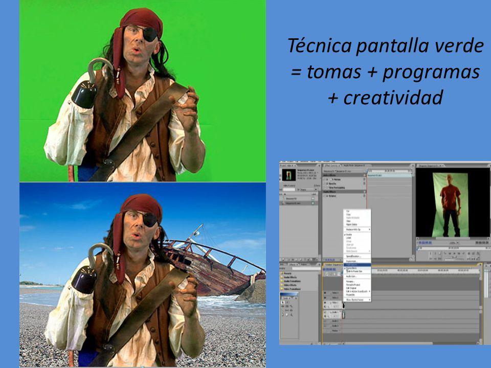 Técnica pantalla verde = tomas + programas + creatividad