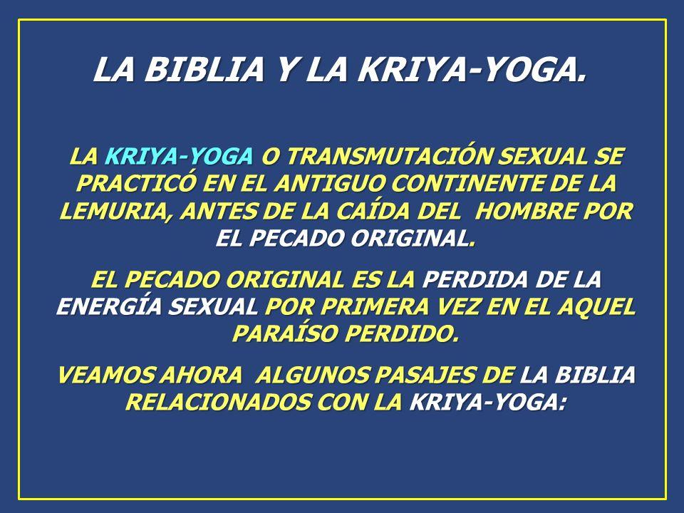 LA BIBLIA Y LA KRIYA-YOGA.