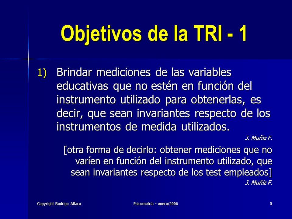 23/03/2017 Objetivos de la TRI - 1.