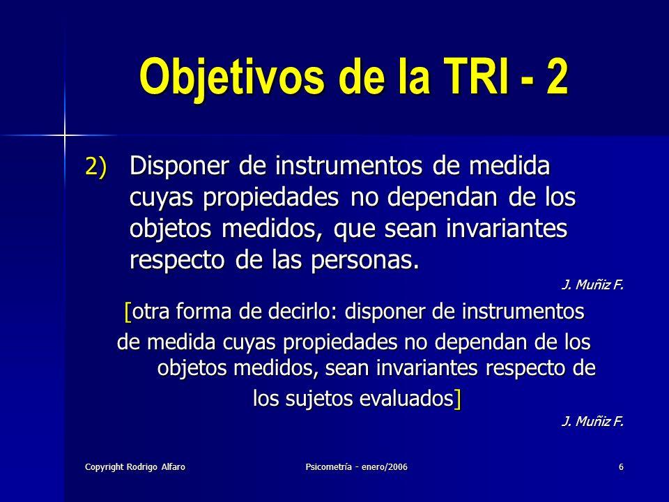 23/03/2017 Objetivos de la TRI - 2.
