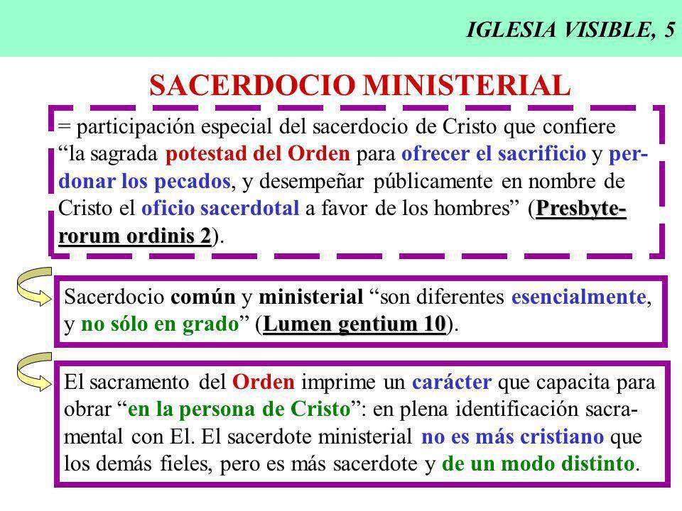 SACERDOCIO MINISTERIAL