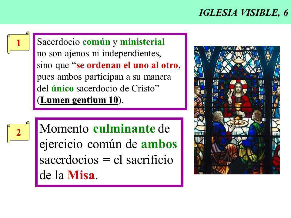 ejercicio común de ambos sacerdocios = el sacrificio de la Misa.