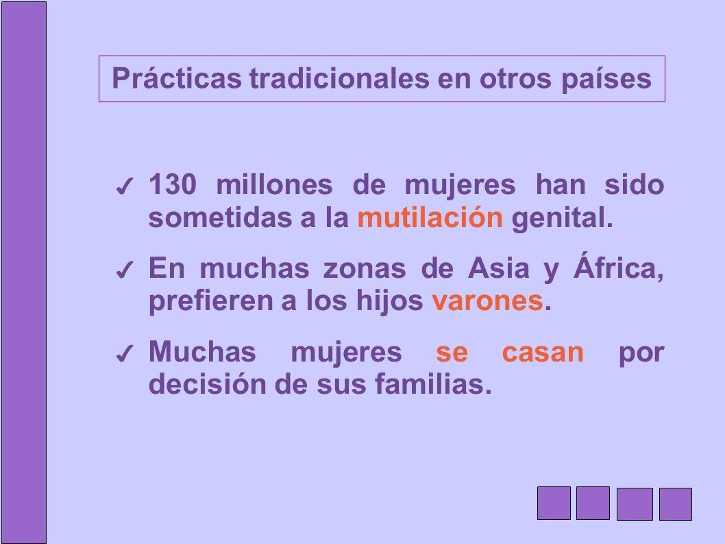 Prácticas tradicionales en otros países