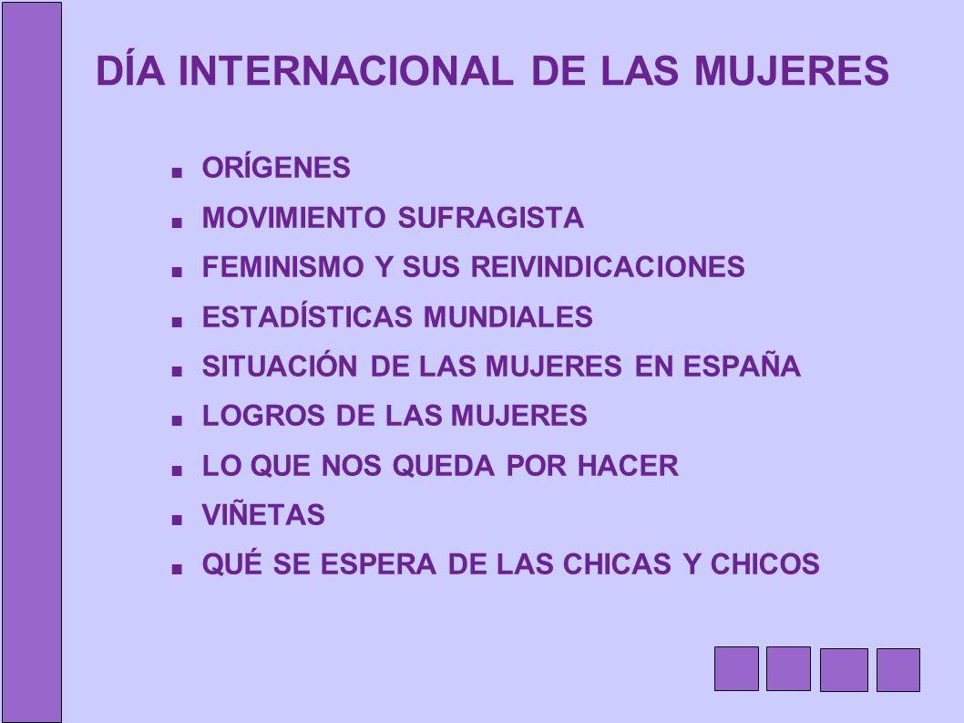 DÍA INTERNACIONAL DE LAS MUJERES