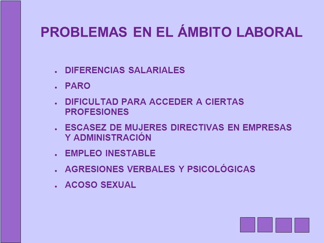 PROBLEMAS EN EL ÁMBITO LABORAL