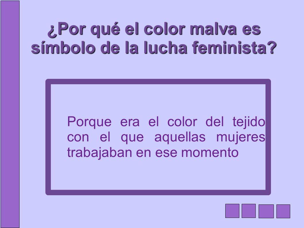 ¿Por qué el color malva es símbolo de la lucha feminista