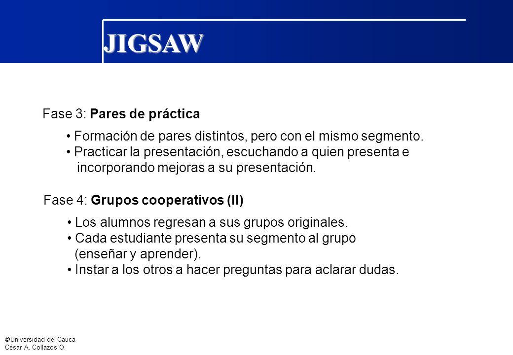 JIGSAW Fase 3: Pares de práctica