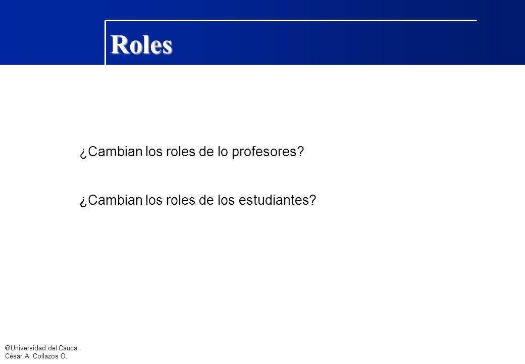 Roles ¿Cambian los roles de lo profesores