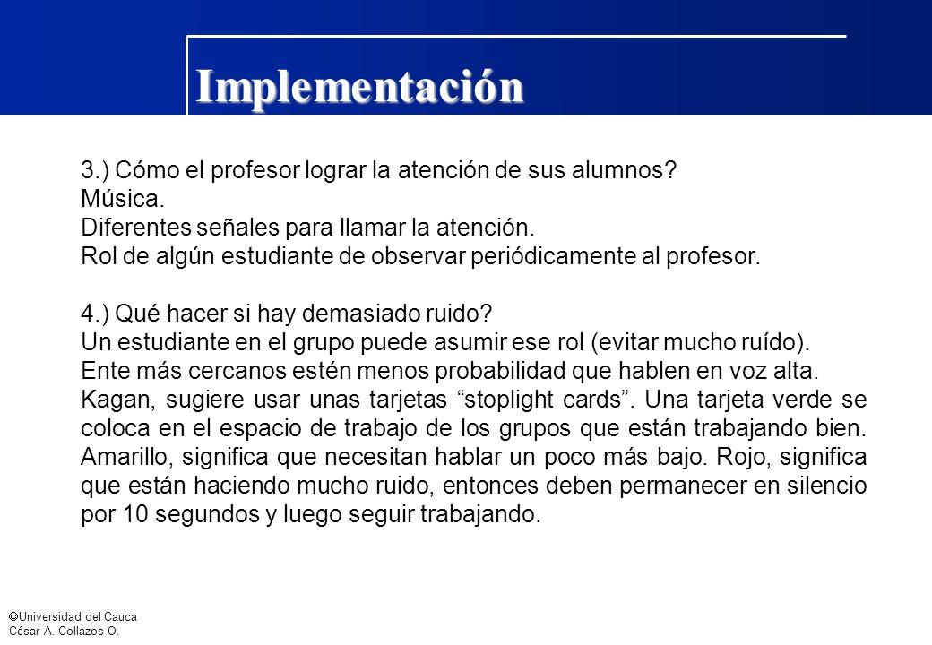 Implementación 3.) Cómo el profesor lograr la atención de sus alumnos