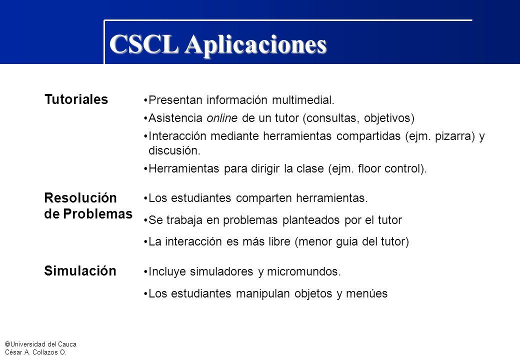 CSCL Aplicaciones Tutoriales Resolución de Problemas Simulación