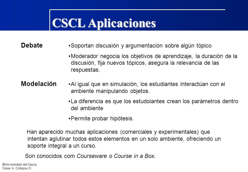 CSCL Aplicaciones Debate Modelación