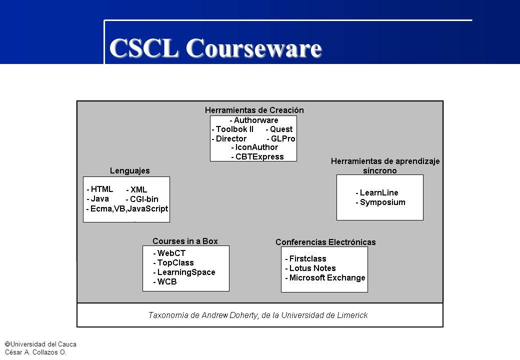 CSCL Courseware ã Universidad del Cauca César A. Collazos O.