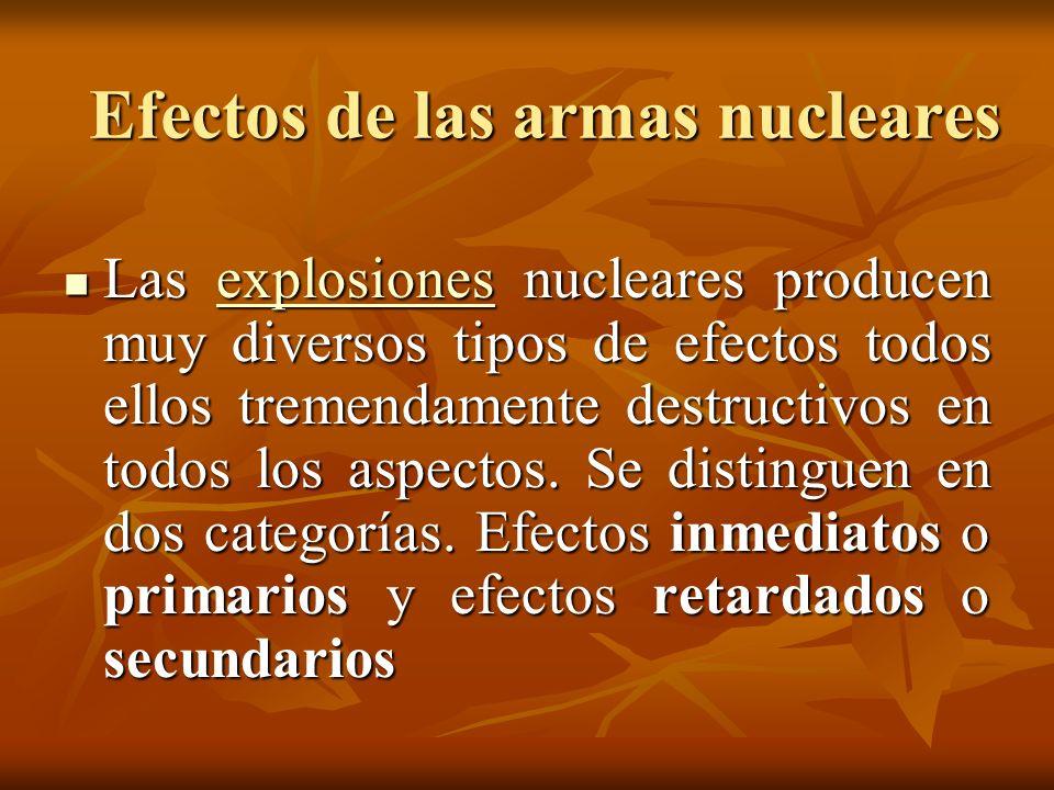 Efectos de las armas nucleares
