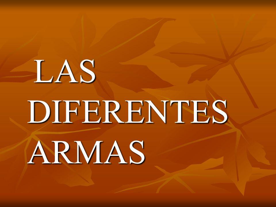 LAS DIFERENTES ARMAS