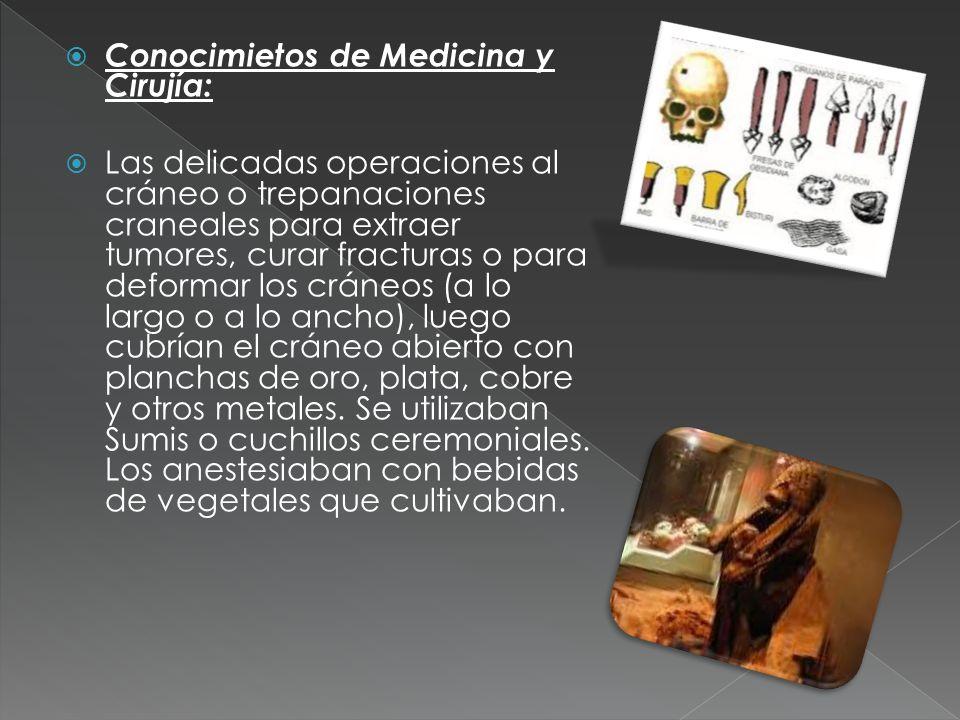 Conocimietos de Medicina y Cirujía: