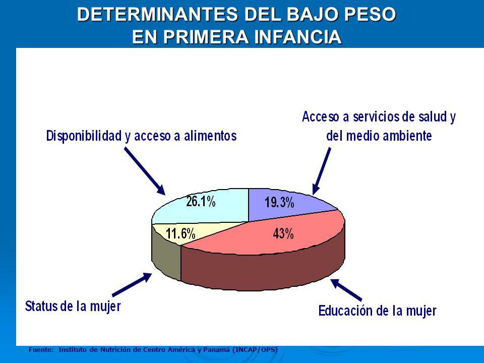 DETERMINANTES DEL BAJO PESO
