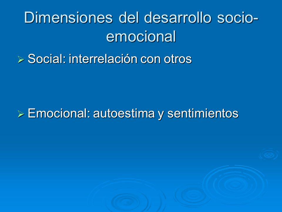 Dimensiones del desarrollo socio-emocional