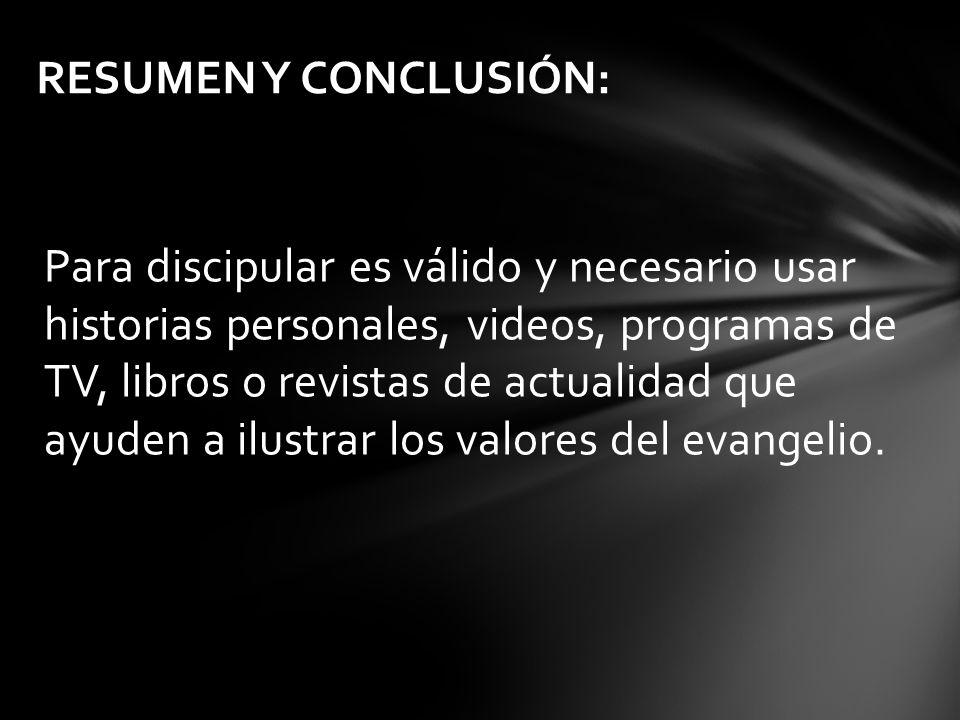 RESUMEN Y CONCLUSIÓN: