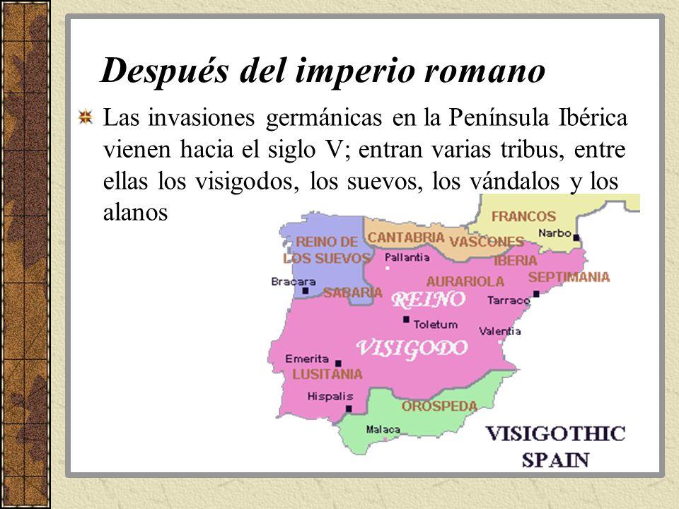 Después del imperio romano