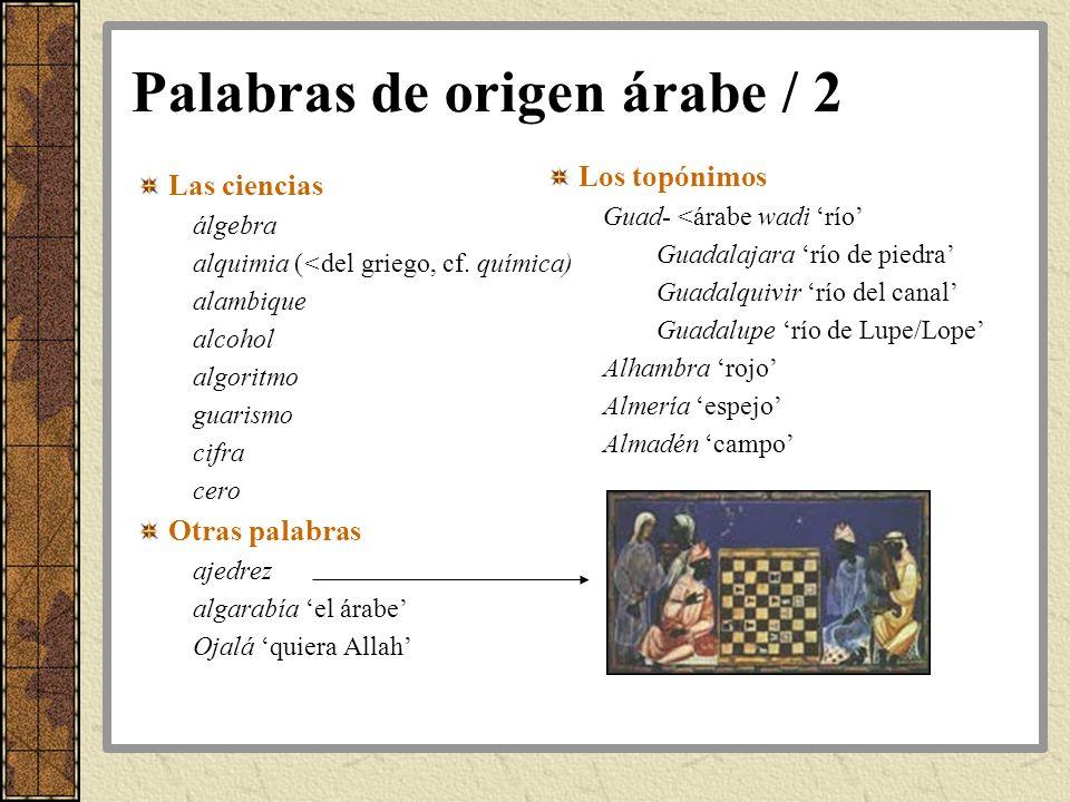 Palabras de origen árabe / 2