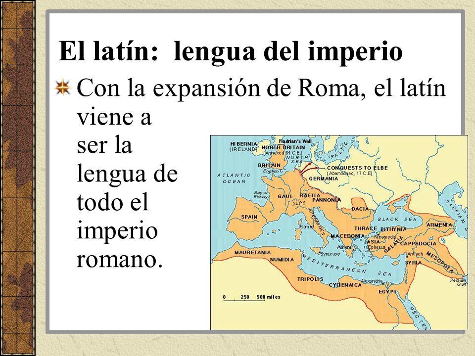 El latín: lengua del imperio