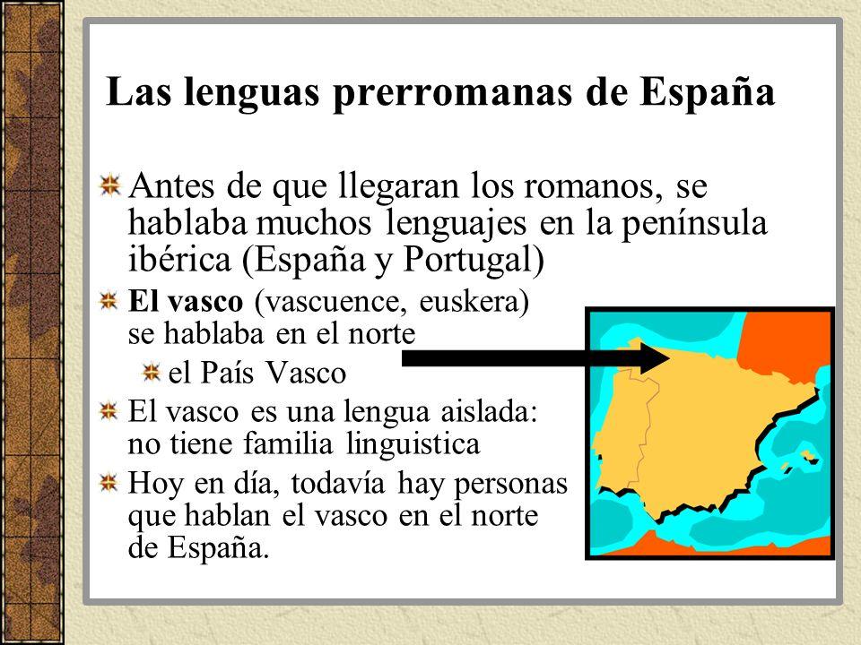 Las lenguas prerromanas de España