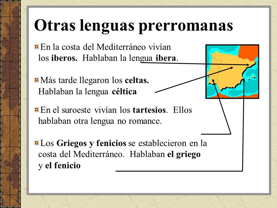 Otras lenguas prerromanas