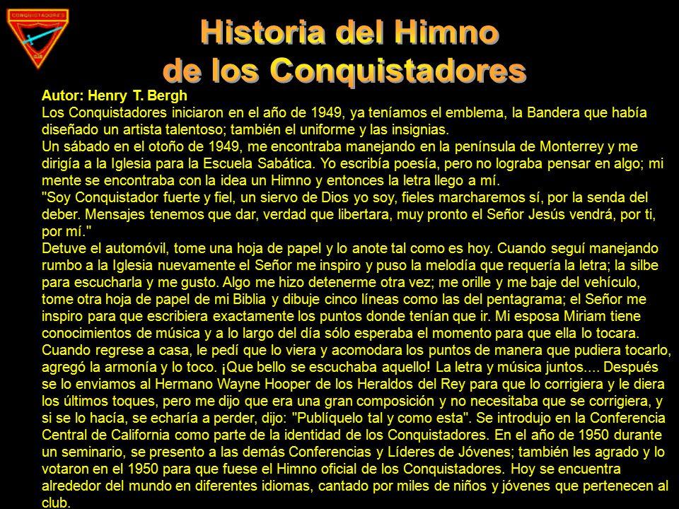 Historia del Himno de los Conquistadores