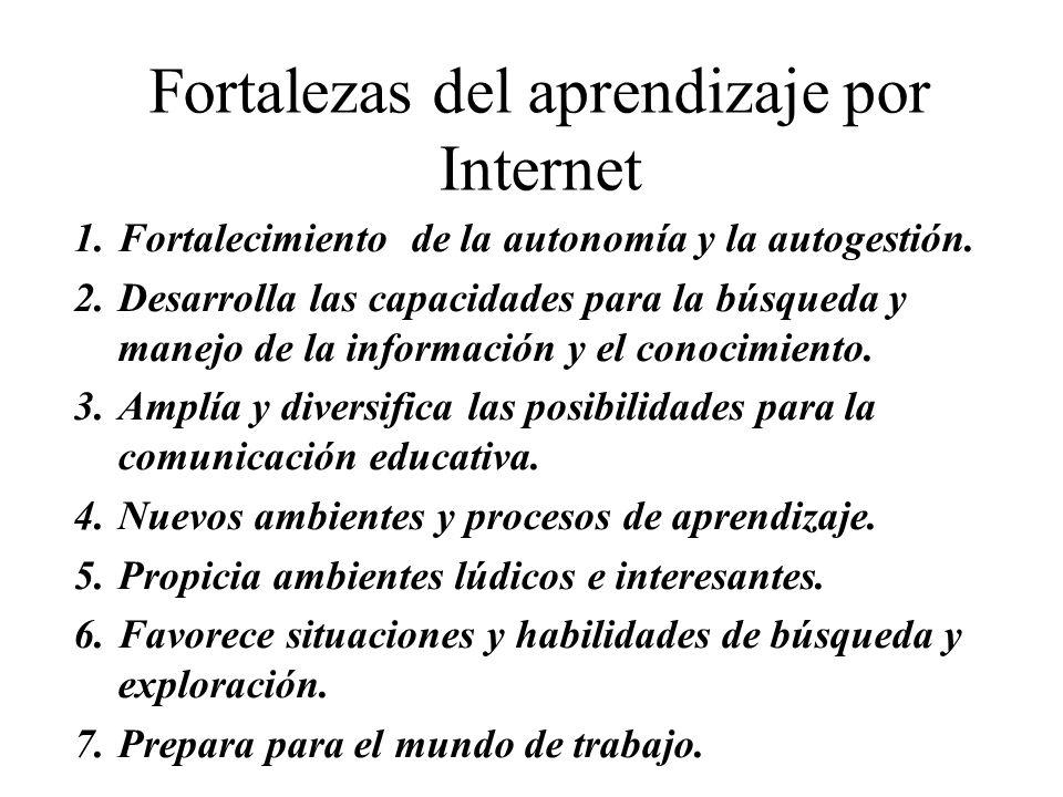 Fortalezas del aprendizaje por Internet