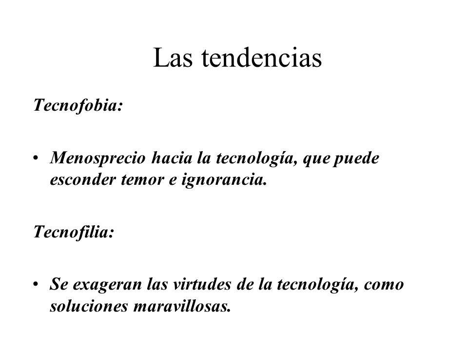 Las tendencias Tecnofobia: