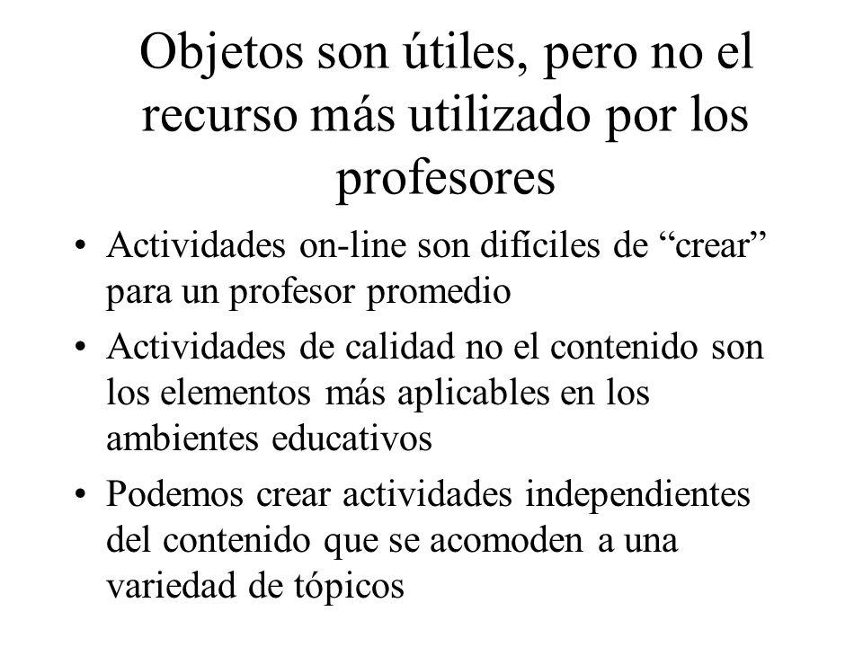 Objetos son útiles, pero no el recurso más utilizado por los profesores