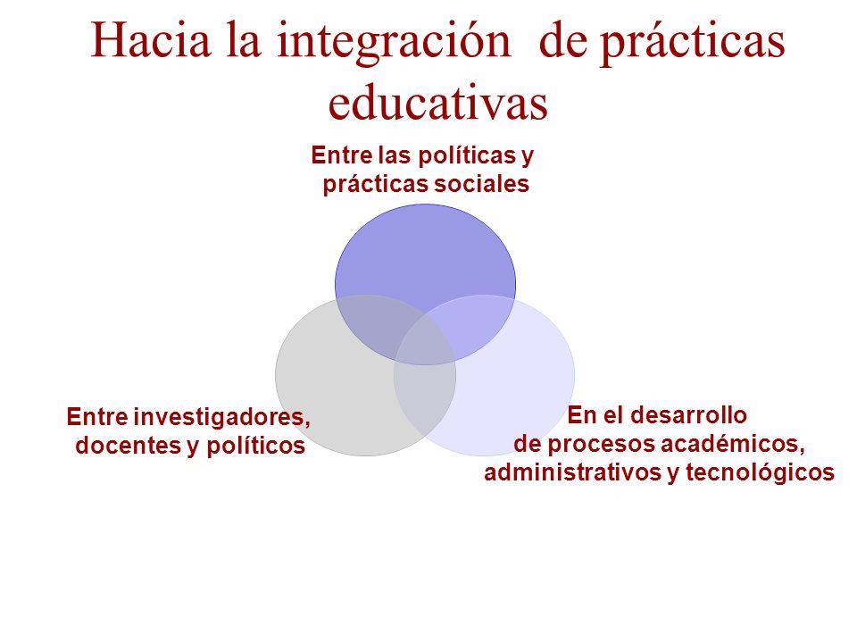 Hacia la integración de prácticas educativas
