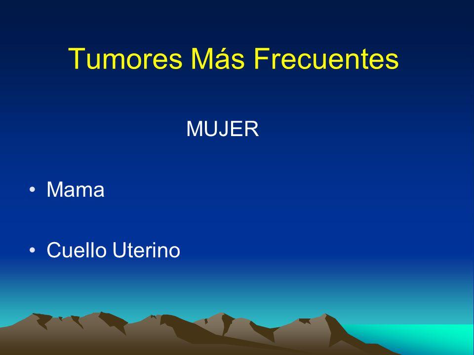 Tumores Más Frecuentes
