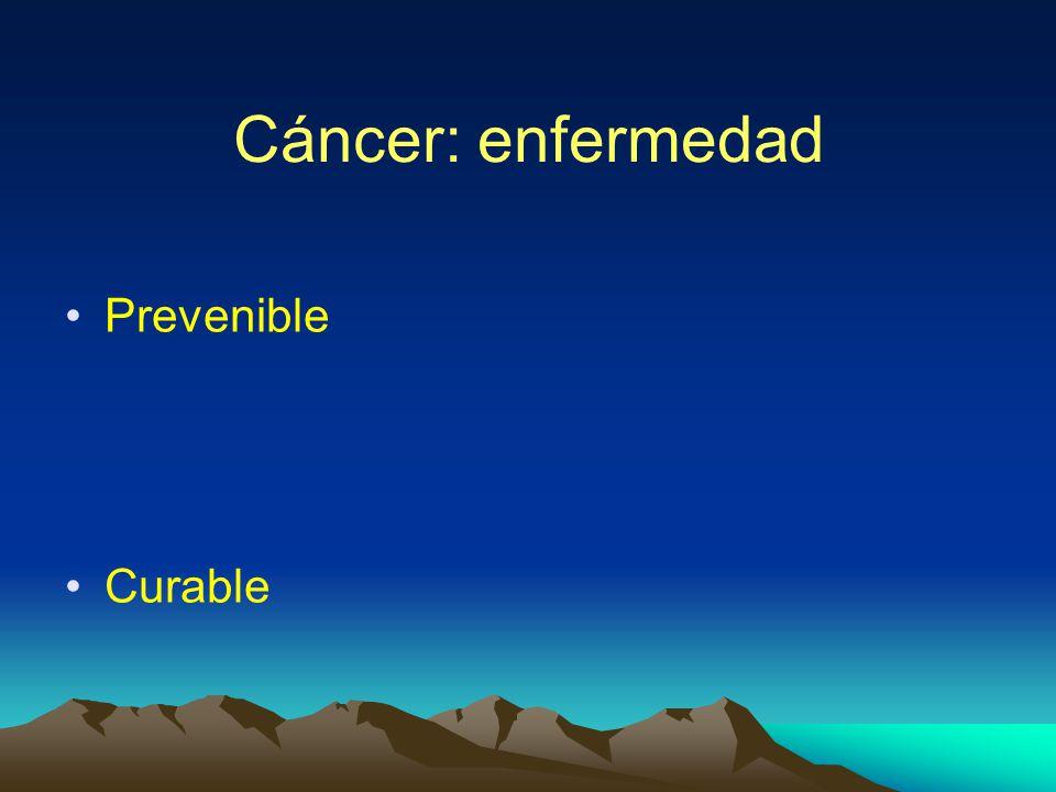 Cáncer: enfermedad Prevenible Curable