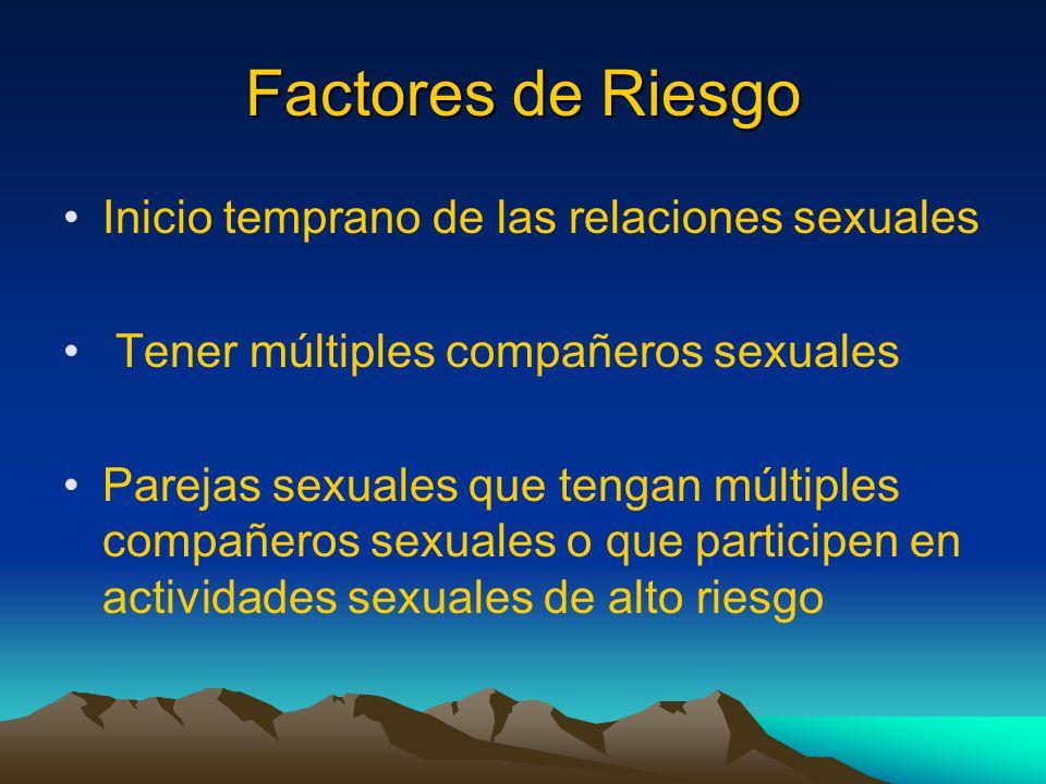 Factores de Riesgo Inicio temprano de las relaciones sexuales
