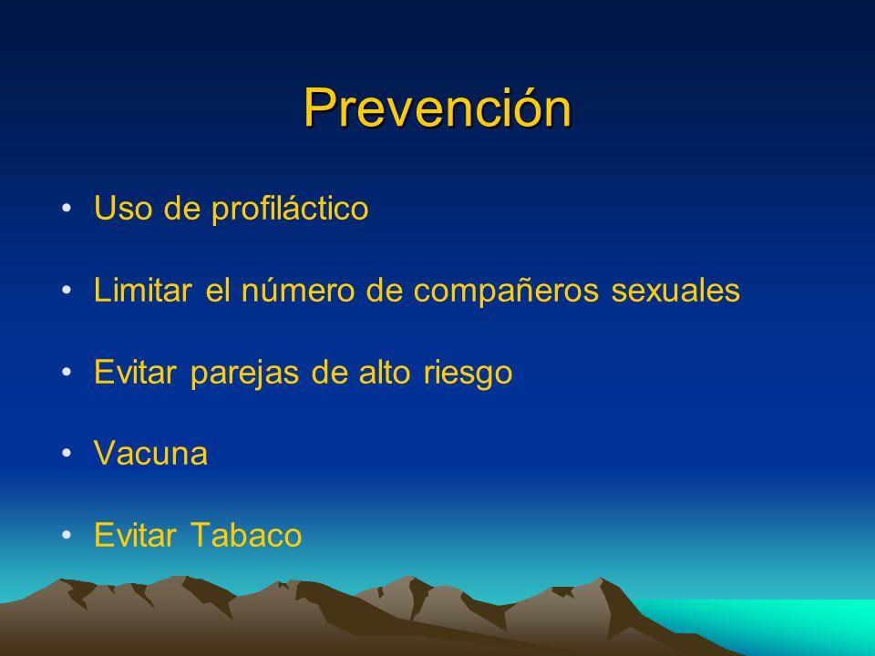 Prevención Uso de profiláctico