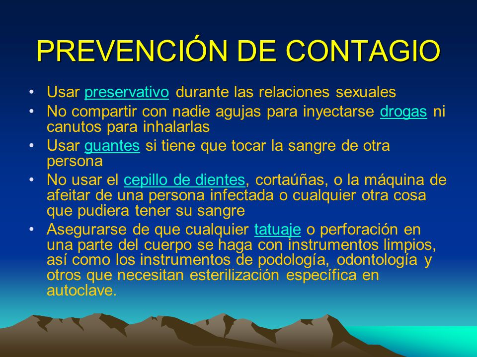 PREVENCIÓN DE CONTAGIO