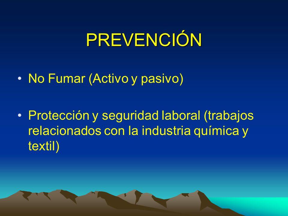 PREVENCIÓN No Fumar (Activo y pasivo)