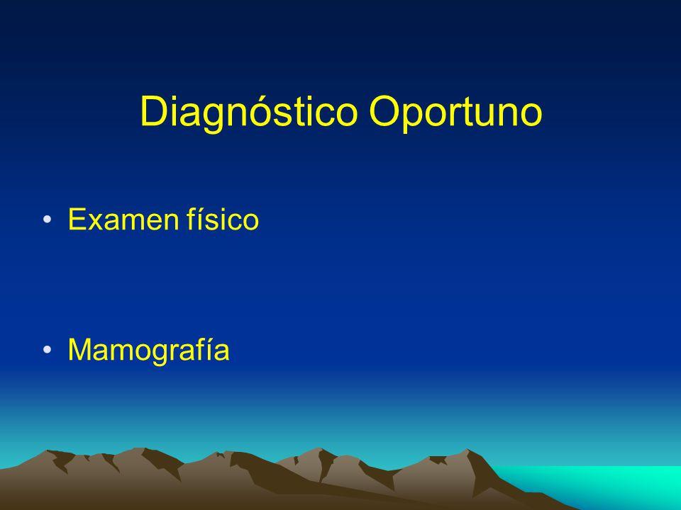 Diagnóstico Oportuno Examen físico Mamografía