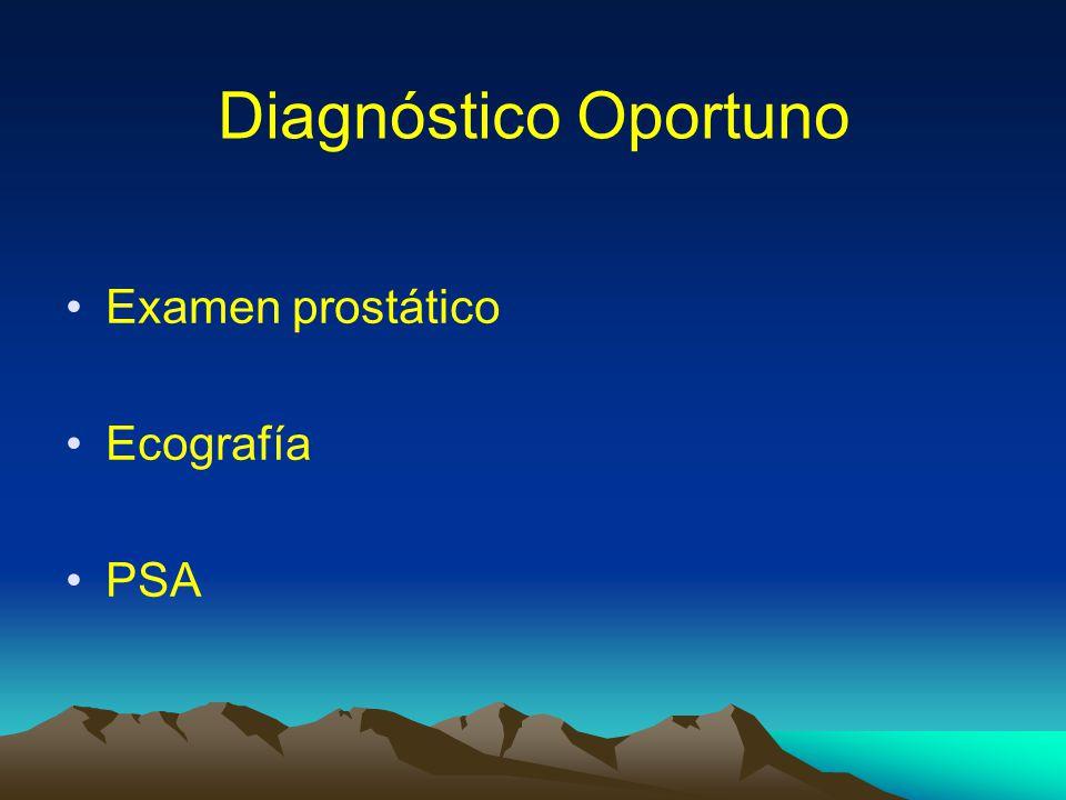 Diagnóstico Oportuno Examen prostático Ecografía PSA