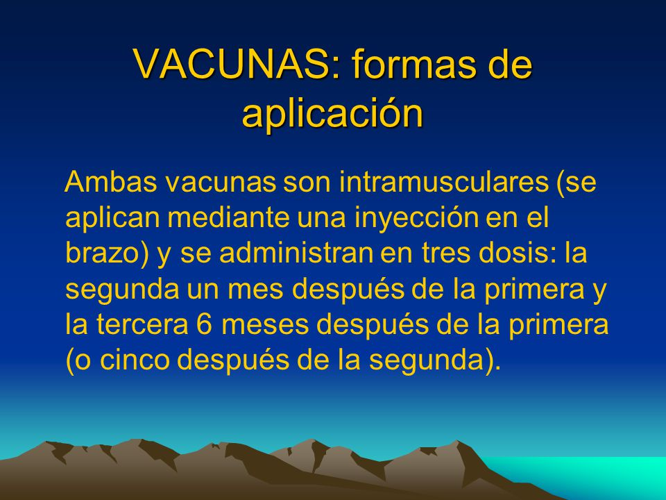 VACUNAS: formas de aplicación