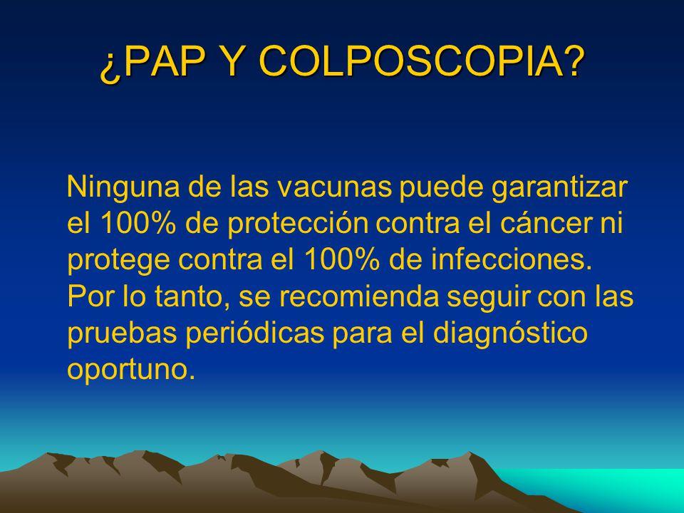 ¿PAP Y COLPOSCOPIA