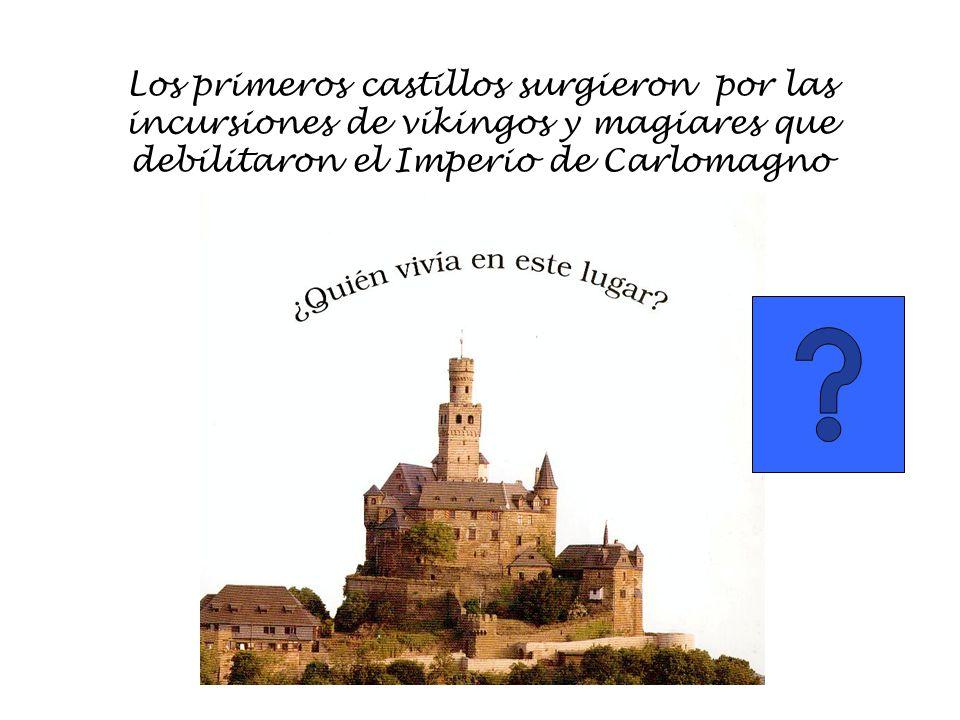 Los primeros castillos surgieron por las incursiones de vikingos y magiares que debilitaron el Imperio de Carlomagno