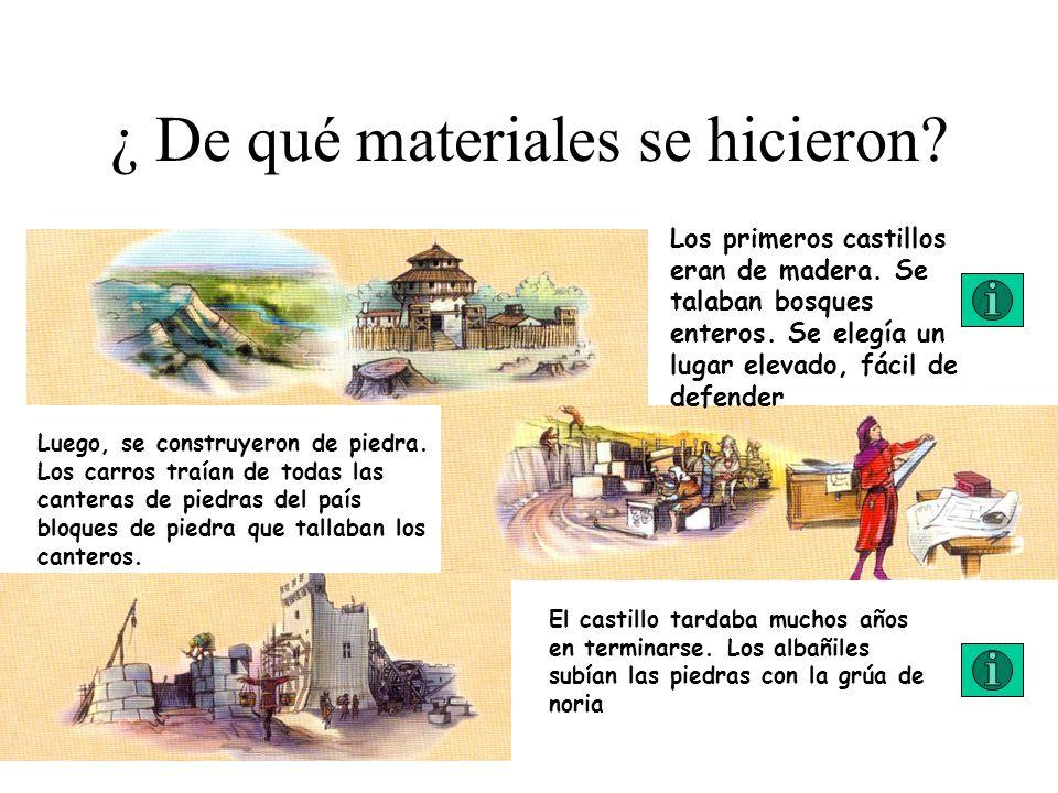 ¿ De qué materiales se hicieron