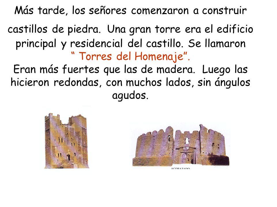 Más tarde, los señores comenzaron a construir castillos de piedra