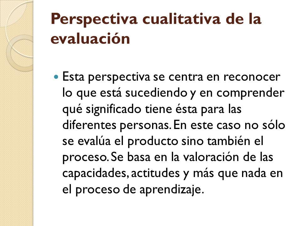 Perspectiva cualitativa de la evaluación