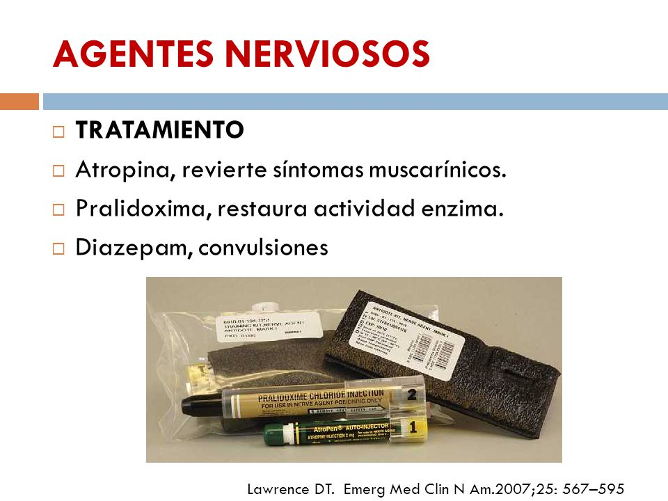 AGENTES NERVIOSOS TRATAMIENTO